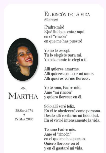 La Oración De Martha Martha Magallanes